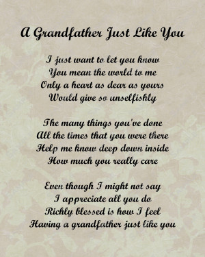 Love You Grandpa Quotes Grandpa quotes and poems