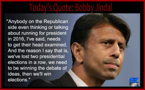 "And in reference to Jindal calling the Republican party the ""stupid ..."