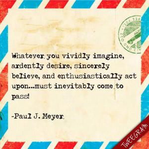 Success Motivation Institute Founder Paul J. Meyer