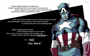 Superhero Quotes And Sayings Captain america sayings