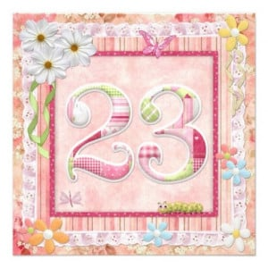23rd birthday party scrapbooking style invite