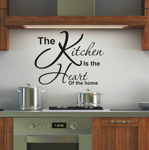 Kitchen is heart of the home wall art sticker quote - 4 sizes - loads ...