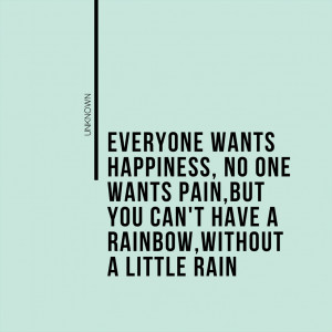 Everyone wants happiness…