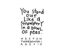 children, cute, love, peas, quote, strawberry