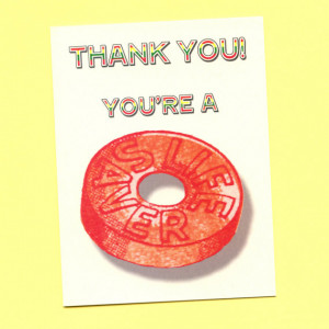 YOU'RE A Lifesaver - Funny Thank You Card - Cute Thank You Card ...