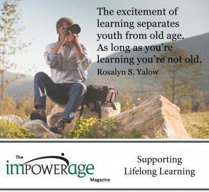 The Excitement of learning separates Youth from old age