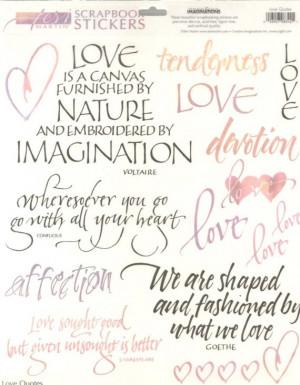 Creative Imaginations LOVE QUOTES Scrapbooking STICKERS Embellishments