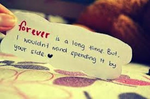 forever by your side love picture quote