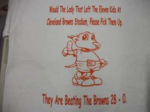 The Browns Funny Cleveland Football T Shirt White Tee
