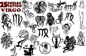Virgo Tattoo Designs on Virgo Tattoos Top Virgo Symbols Graphics And ...