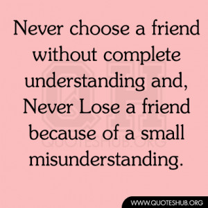 Quotes About Understanding Friends