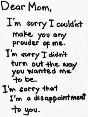 sorry, Ma! - An Open Letter for my Mother