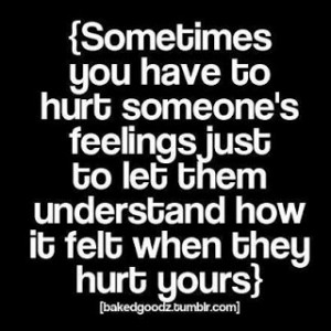 Hurting the one you love