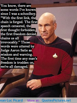 as captain Jean-Luc Picard motivational inspirational love life quotes ...
