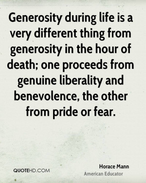Horace Mann Death Quotes