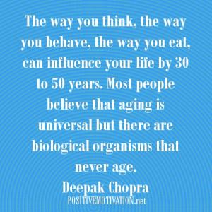 Aging picture Quote -Deepak Chopra Quotes