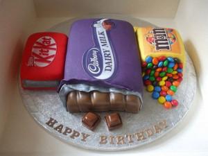 Çikolata firmalarının ürünlerinden güzel bir doğum günü ...