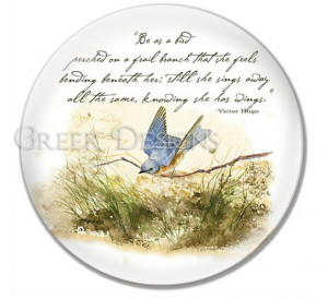 Bluebird Bird on a Branch Victor Hugo Poem Quote by greerdesign, $19 ...