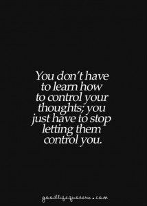 Stop letting them control you!