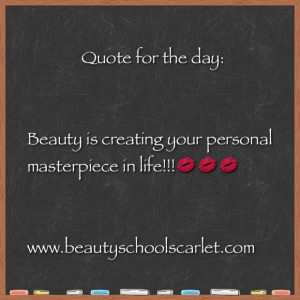 Beauty School Scarlet: Thursday Beauty Quote