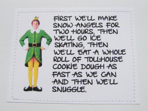 Funny Christmas Movie Quotes Elf quote christmas card.