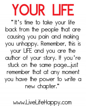 It's Time to Take Your Life Back From People