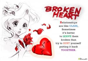 Heart broken poem quotes – broken heart quotes for Girls