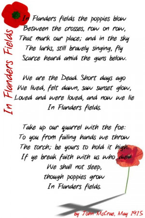 Famous Memorial Day 2010 Poems Quotes