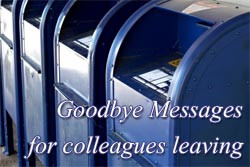 thematizing.comGoodbye message to colleague or coworker leaving