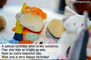 special birthday wish to my sunshine,