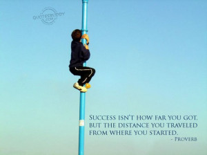 "In the series, T.D. Jakes said, ""Success doesn't feel like success ..."