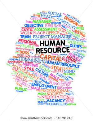 ... for Human Resource. Word collage. Vector illustration. - stock vector