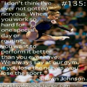 Shawn Johnson...she's so stinking strong!