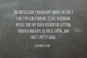 Rough days perspective