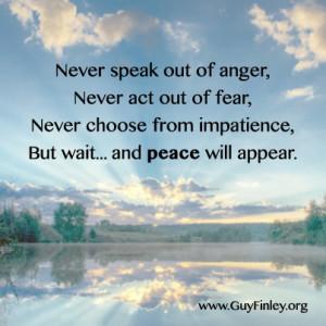 Never speak out of anger... guyfinley.org