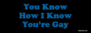 You Know How I Know You're Gay Facebook Cover