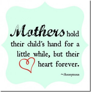 Mothers Day Hand Quote