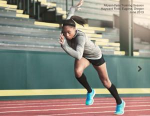 Allyson Felix Nike Free Run