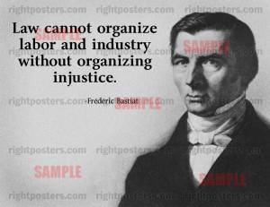 Frederic Bastiat Labor Quote Poster