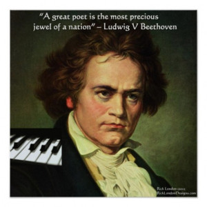 Beethoven & Poet Is A Jewel Quote Poster Posters