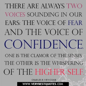 Fear quotes confidence quotes there are always...