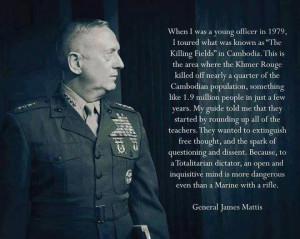 General James Mattis on his experience in Cambodia.