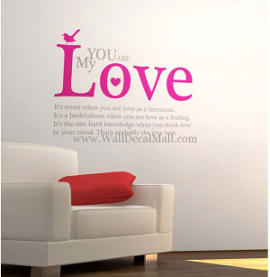 home wall decals quote you are my love quotes wall decals