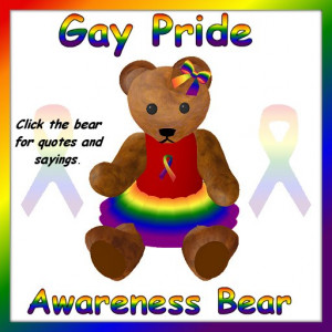 GAY PRIDE AWARENESS QUOTES BEAR (BOXED) contents