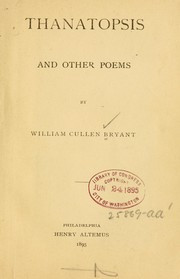 Cover of: Thanatopsis by William Cullen Bryant