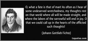 More Johann Gottlieb Fichte Quotes