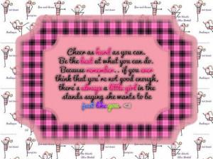 ... cheer, cheerleaders, cheerleading, girls, quotes, role model, sayings
