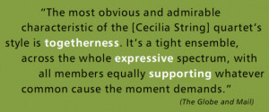 The most obvious and admirable characteristic of the (Cecilia String ...