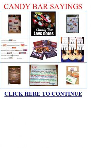candy bar sayings - Sony Ericsson