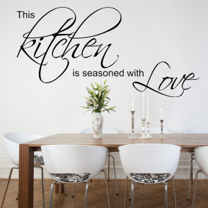 This Kitchen is Seasoned with Love ~ Wall sticker / decals